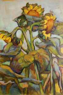 Bunt, Malerei, Sonnenblumen sommer, Fantasie