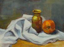 Apfel, Farbe bekennen, Stillleben, Tisch