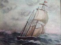 Meer, Boot, Landschaft, Stillleben