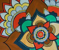 Figural, Acrylmalerei, Mandala, Malerei
