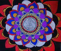 Mandala, Figural, Acrylmalerei, Malerei