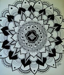 Figural, Mandala, Acrylmalerei, Malerei
