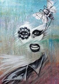 Horror, Lady gaga, Acrylmalerei, Malerei