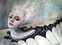 Surreal, Lsd, Frau, Acrylmalerei