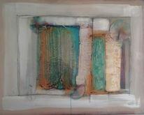 Marmormehl, Mischtechnik, Malerei, Abstrakt