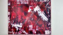 Weiß, Rot schwarz, Malerei, Abstrakt