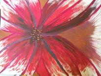 Blumen, Zaubernuss, Acrylmalerei, Abstrakt
