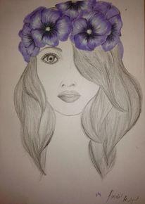 Bleistiftzeichnung, Blumen, Copic, Zeichnungen