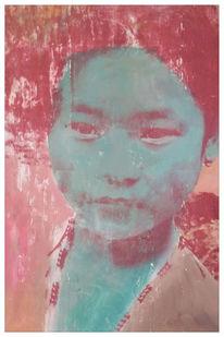 Siebdruck, Portrait, Kids, Nepal