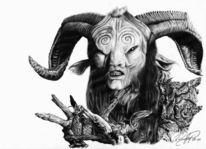 Horn, Labyrinth, Zeichnen, Fantasie