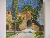 Sommer, Garten, Himmel, Toskana