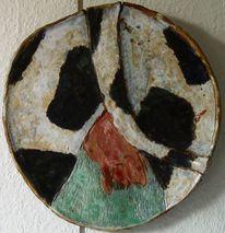 Kuh, Keramik wandteller friesland, Plastik