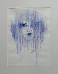 Streifen, Aquarellmalerei, Gesicht, Geburtstag