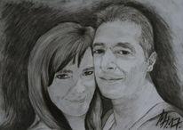 Stiftfotografie, Traumhaft, Portrait, Zeichnung