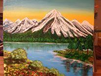 Malerei, Abendstimmung