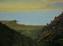 Meer, Gelb, Küste, Natur