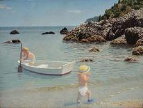 Urlaub, Boot, Sonne, Ruhe