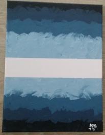 Acrylmalerei, Blau, Malerei,
