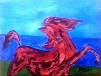 Acrylmalerei, 2014, Tiere, Landschaft