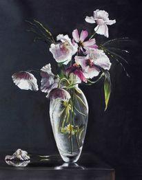 Pink, Mohnblumen, Glasvase, Vase