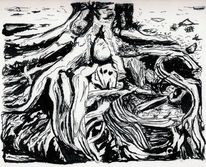 Zeichnung, Wurzel, Landschaft, Zeichnungen