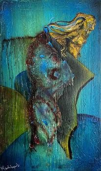 Blau, Trauer, Grün, Malerei
