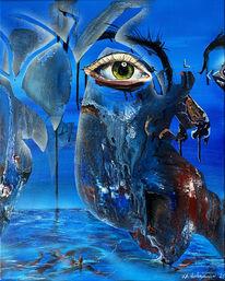 Blau, Augen, Wasser, Baum