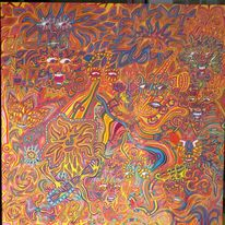 Farben, Freude, Vielfalt, Gesicht