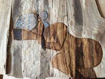 Relief, Frau, Holz, Kunsthandwerk