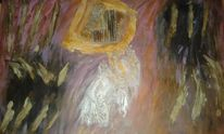 Lila, Wind, Abstrakt, Gold