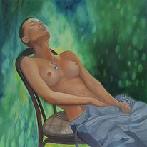 Akt, Gemälde, Frau, Person