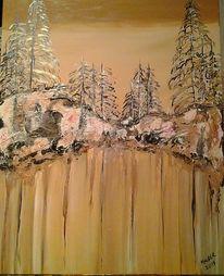 Natur, Acrylmalerei, Abstrakt, Teer
