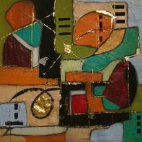 Abstrakt, Dekoration, Acrylmalerei, Modern