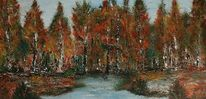 Herbst, Regen, Baum, Wind stille
