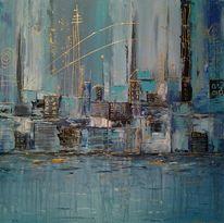 Fantasie, Blau, Metropole, Dekoration