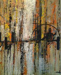 Abstrakt, Strukturieren, Acrylmalerei, Fantasie
