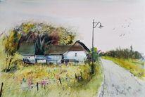 Hiddensee, Grieben, Haus, Dorf