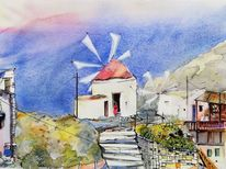 Mühle, Insel, Landschaft, Griechisch
