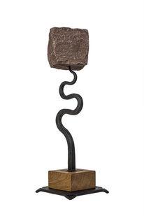 Skulptur, Stein, Eisen, Pflastersteine
