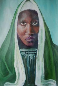 Malerei, Madonna, Portrait, Massai