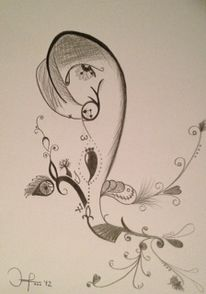 Bleistiftzeichnung, Zeichnung, Surreal, Abstrakt