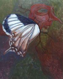 Surreal, Acrylmalerei, Larve, Malerei
