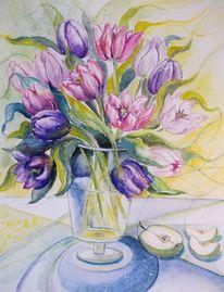 Frühling, Tulpen, Lila tulpen, Stillleben