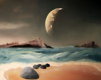 Universum, Mond, Planet, Fantasie