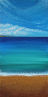 Meer, Acrylmalerei, Abstrakt, Malerei