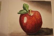 Aquarellmalerei, Aquarell, Apfel