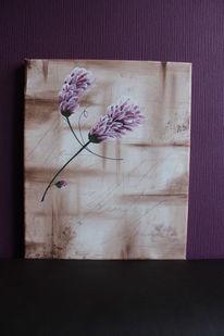 Acrylmalerei, Blumen, Malerei, Fallen