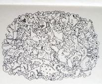 Gekritzel, Zeichnen, Zeichnung, Zeichnungen