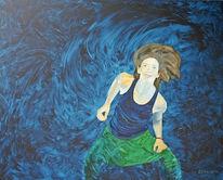 Portrait, Körper, Ölmalerei, Tanz