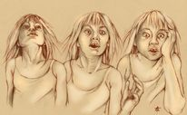 Schock, Krankheit, Mädchen, Erwachen